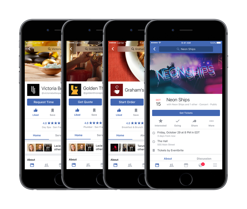 Facebook Now Lets You Order Food Book Spa Appointments And More