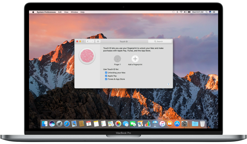 How to set up Touch ID on the MacBook Pro to unlock it, use