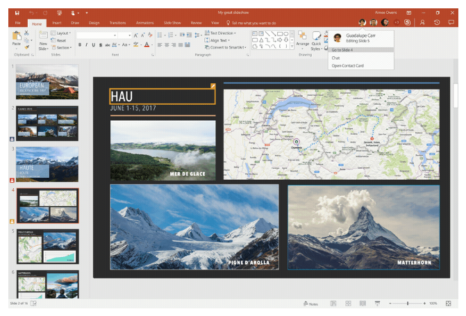 office 365 gets new powerpoint collaboration features mobile
