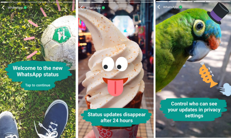 WhatsApp's updated Status is a lot like Snapchat Stories