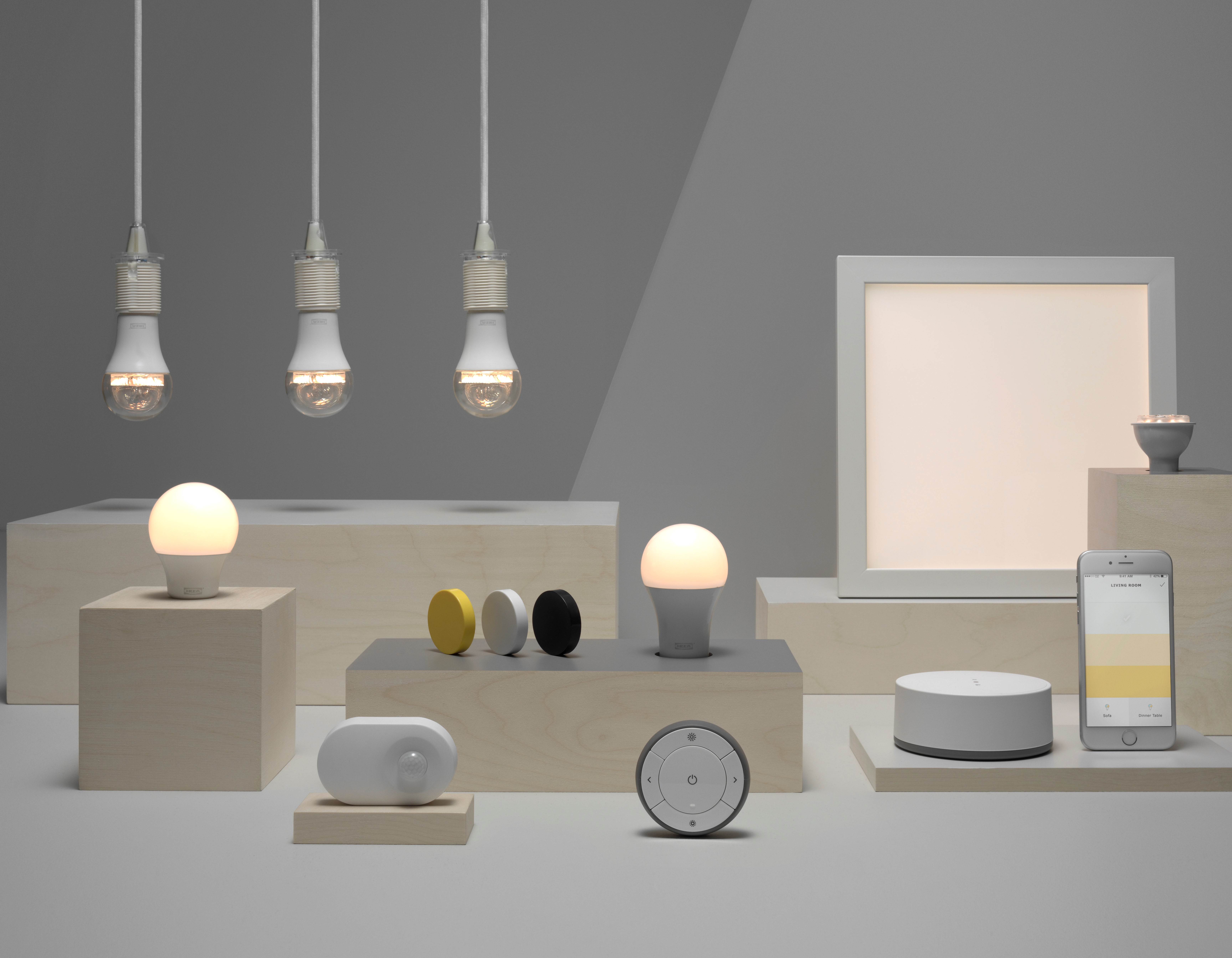 Smart Home Light Bulbs Set To Go Mainstream As Ikea Enters The Wireless Controlled Lightdimmer 80356911 Yellow 80349888 White 00356910 Black Trdfri Dimming Kit Warm 30338849 Trdfrie Remote Control 80338941