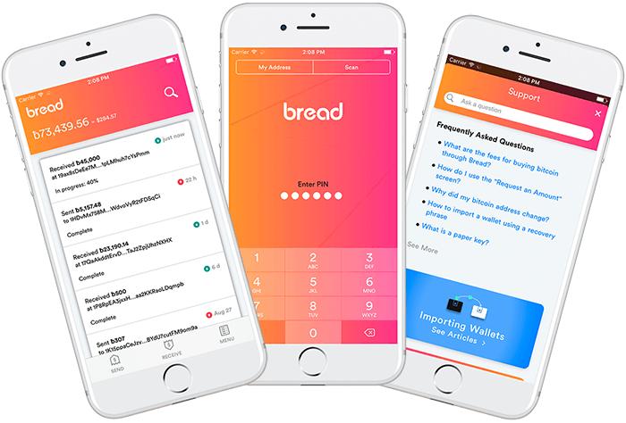 Breadwallet 3 Phone Display Switzerland Based Bitcoin Wallet App Developer Announced