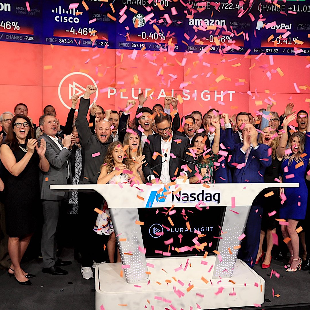 PluralSight raises $310M+ in IPO as shares jump 33% in market debut