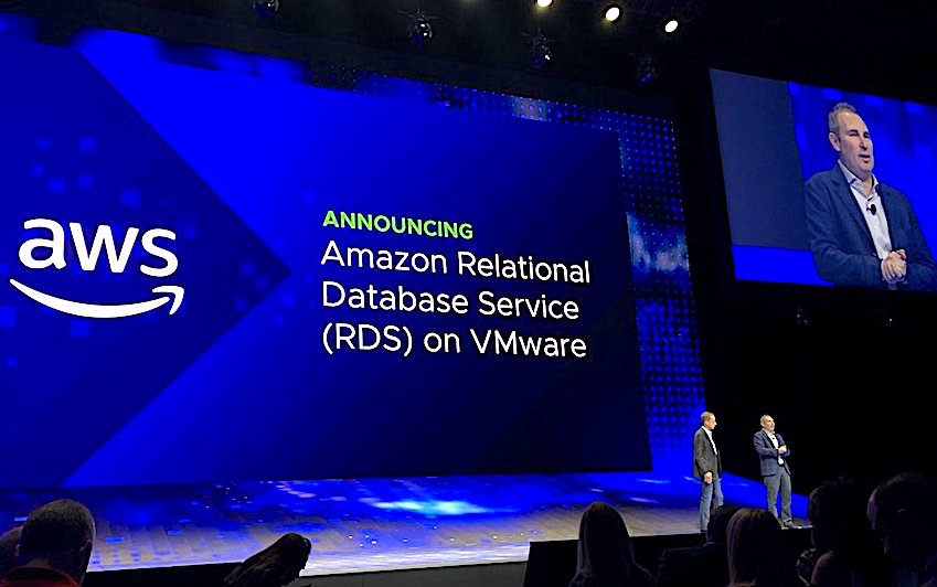 VMware expands cloud services on AWS, and AWS brings RDS database to