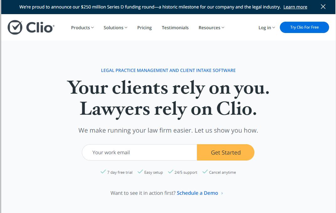 Cloud legal tech firm Clio raises $250M, largest venture